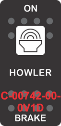 """HOWLER BRAKE"" Black Switch Cap Single White Lens ON-OFF"