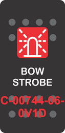 """BOW STROBE"" Black Switch Cap Single Red Lens ON-OFF"