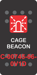 """CAGE BEACON"" Black Switch Cap Single Red Lens ON-OFF"