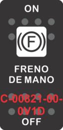 """FRENO DE MANO""  Black Switch Cap single White Lens ON-OFF"