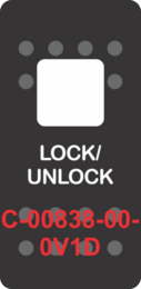 """LOCK/UNLOCK""  White Switch Cap single White Lens ON-OFF"