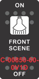 """FRONT SCENE""  White Switch Cap single White Lens ON-OFF"