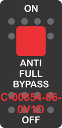 """""""ANTI FULL BYPASS""""  Black Switch Cap single Red Lens ON-OFF"""