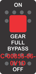 """""""GEAR FULL BYPASS""""  Black Switch Cap single Red Lens ON-OFF"""