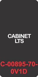"""CABINET LTS"" Black Contura Cap, No Lens, Laser Etched, ON-OFF"