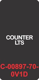 """COUNTER LTS"" Black Contura Cap, No Lens, Laser Etched, ON-OFF"