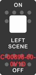 """""""LEFT SCENE"""" Black Switch Cap Single White Lens ON-OFF"""