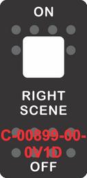 """""""RIGHT SCENE"""" Black Switch Cap Single White Lens ON-OFF"""