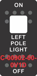 """LEFT POLE LIGHT""  Black Switch Cap single White Lens ON-OFF"