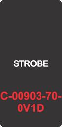 """STROBE""  Black Contura Cap, Laser Etched, ON-OFF"