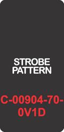 """STROBE PATTERN""  Black Contura Cap, Laser Etched, ON-OFF"