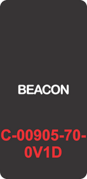 """BEACON""  Black Contura Cap, Laser Etched, ON-OFF"