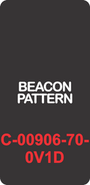 """""""BEACON PATTERN""""  Black Contura Cap, Laser Etched, ON-OFF"""