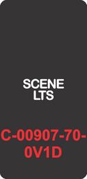 """SCENE LTS""  Black Contura Cap, Laser Etched, ON-OFF"