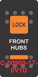 """FRONT HUBS""  Black Switch Cap, Single Orange Locking Lens, ON-OFF"
