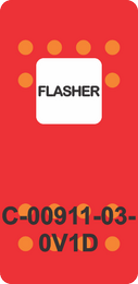 """""""FLASHER""""  Red Switch Cap single White Lens ON-OFF"""