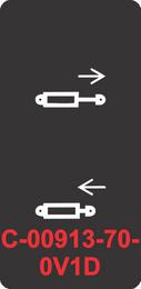 """HYDRAULIC CYLINDER RET & EXT""  Black Contura Cap, Laser Etcehd, ON-OFF"