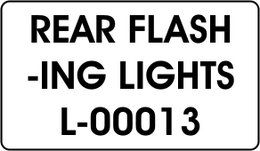 REAR FLASH / -ING LIGHTS
