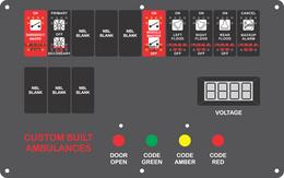 St Landry EMS for Custom Built Ambulance, Dash Switch, Type 2