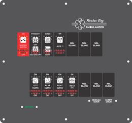 Ambulance Dash Switch w/ Battery Indicator